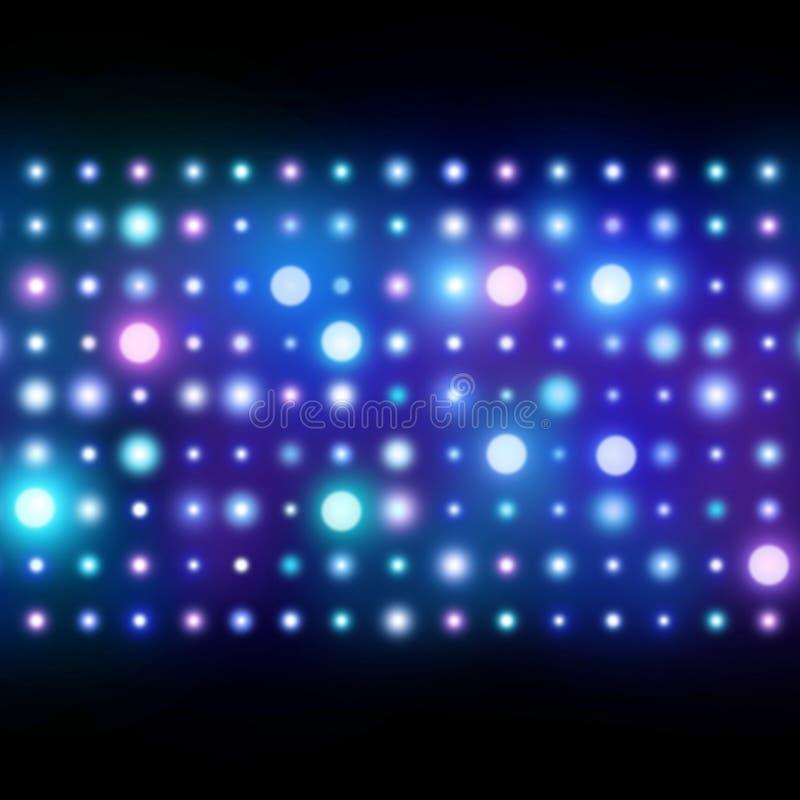 Nachtklub-Hintergrund Abstrakte Leuchten stockbild