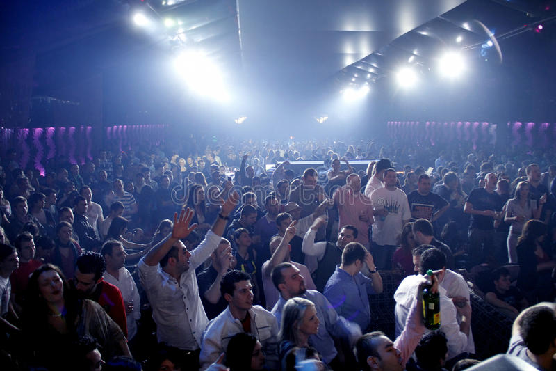 Nachtklubpartyleute stockfoto