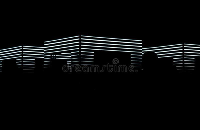 Nachtkubus op signaalfestival royalty-vrije stock foto's