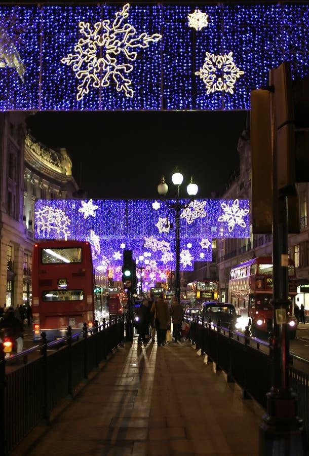 Nachtleben in London lizenzfreies stockbild