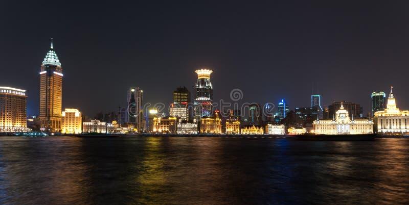 Nachtleben in Shanghai lizenzfreies stockbild