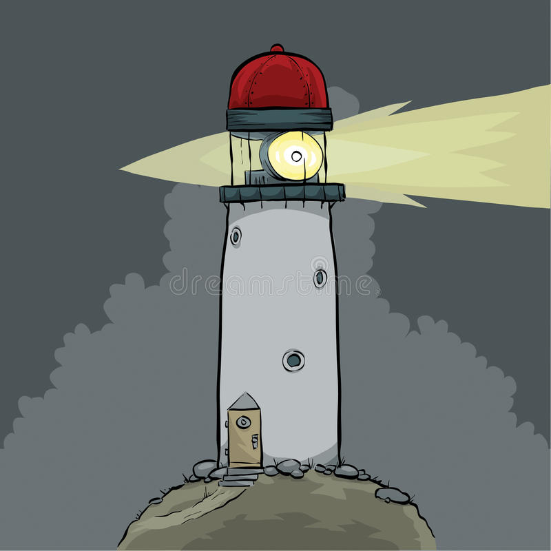 Nachtleuchtturm stock abbildung