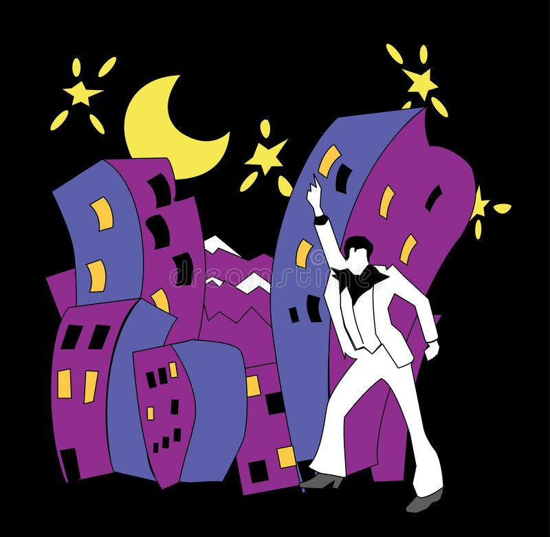 Nachtleven stock illustratie