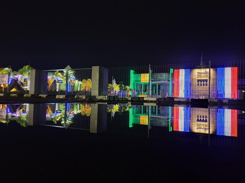 Nachtlicht in Krabi royalty-vrije stock foto