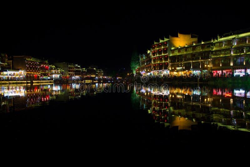 Nachtlichten royalty-vrije stock afbeeldingen