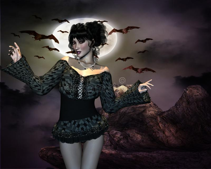 Nachtmädchen und -schläger lizenzfreie stockfotos