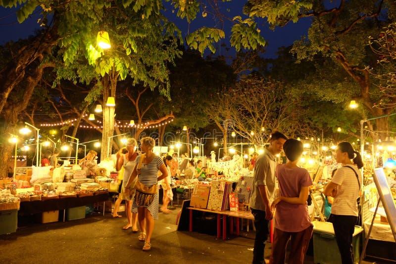 Nachtmarkt stock foto