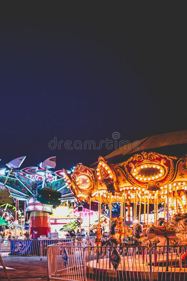 Nachtmarkt royalty-vrije stock afbeelding
