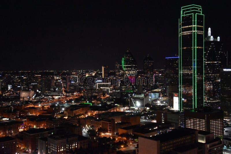 Nachtmening van Dallas, Texas royalty-vrije stock foto's