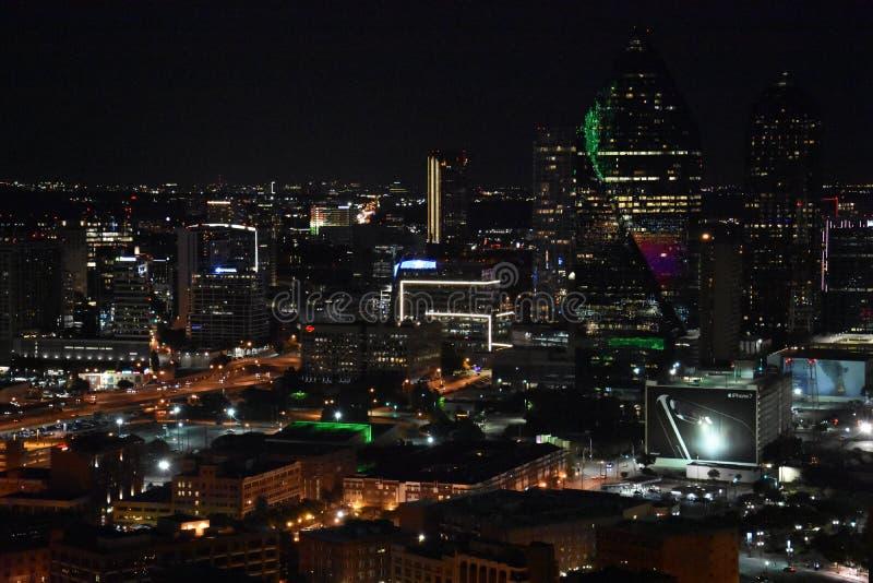 Nachtmening van Dallas, Texas royalty-vrije stock afbeelding