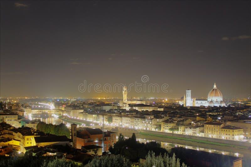 Nachtmening van Florence stock foto's