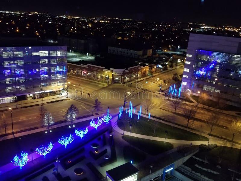 Nachtmening van Hilton Cincinnati royalty-vrije stock foto