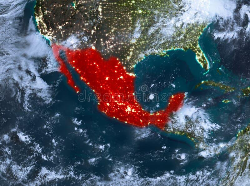 Nachtmening van Mexico stock illustratie