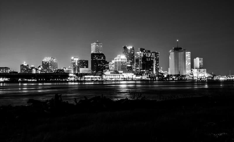 Nachtmening van New Orleans van de binnenstad, Louisiane royalty-vrije stock foto's