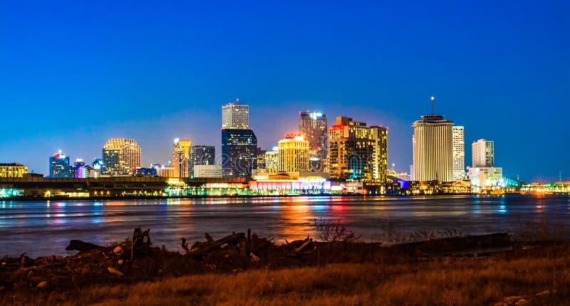 Nachtmening van New Orleans van de binnenstad, Louisiane royalty-vrije stock fotografie