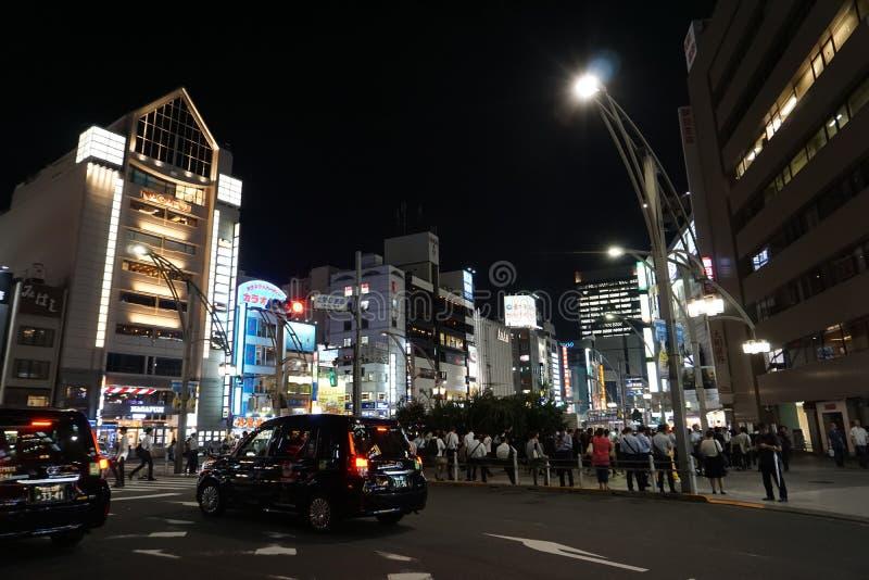 Nachtmening van Ueno-gebied in Tokyo Japan Azië royalty-vrije stock fotografie