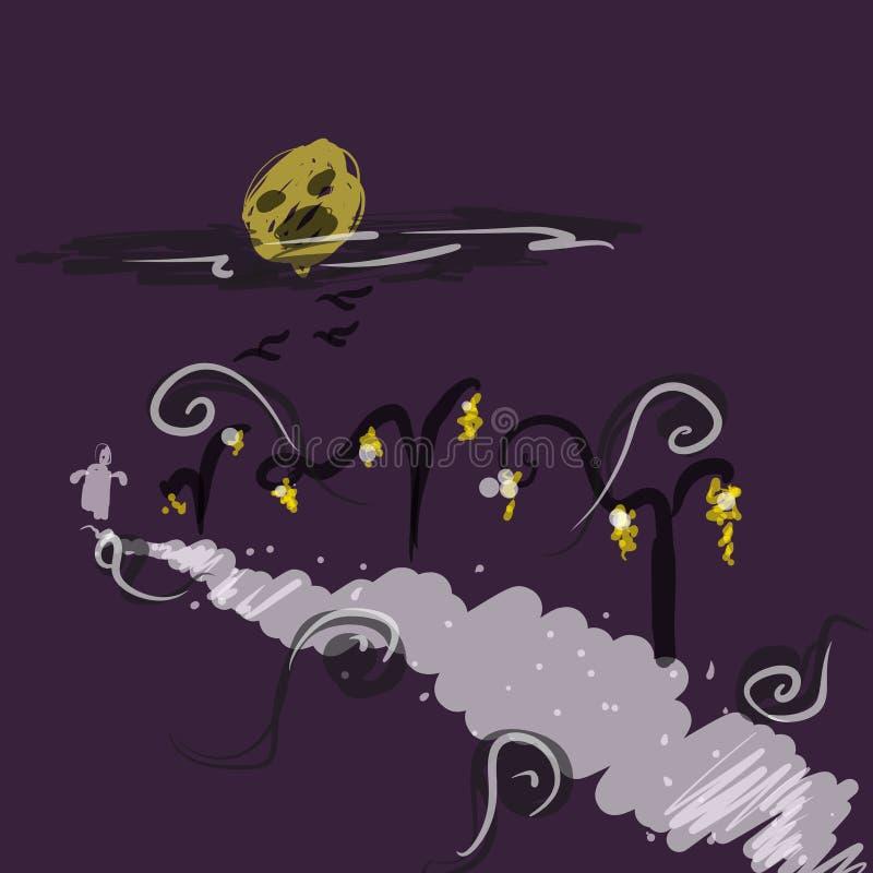Nachtmerrie en Verschrikking vector illustratie