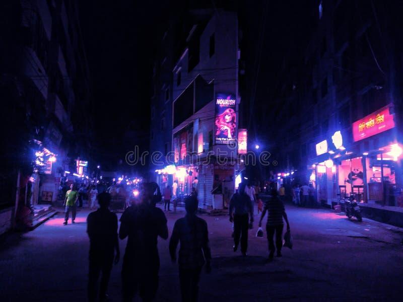 Nachtneon stock foto