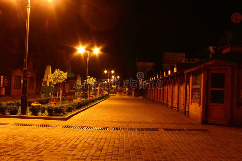 Nachtpark Truskavets stock fotografie
