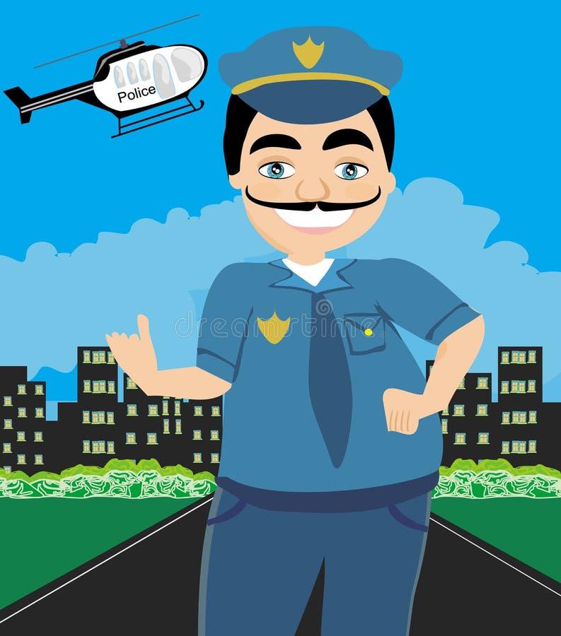 Nachtpatrouillen-Polizei vektor abbildung