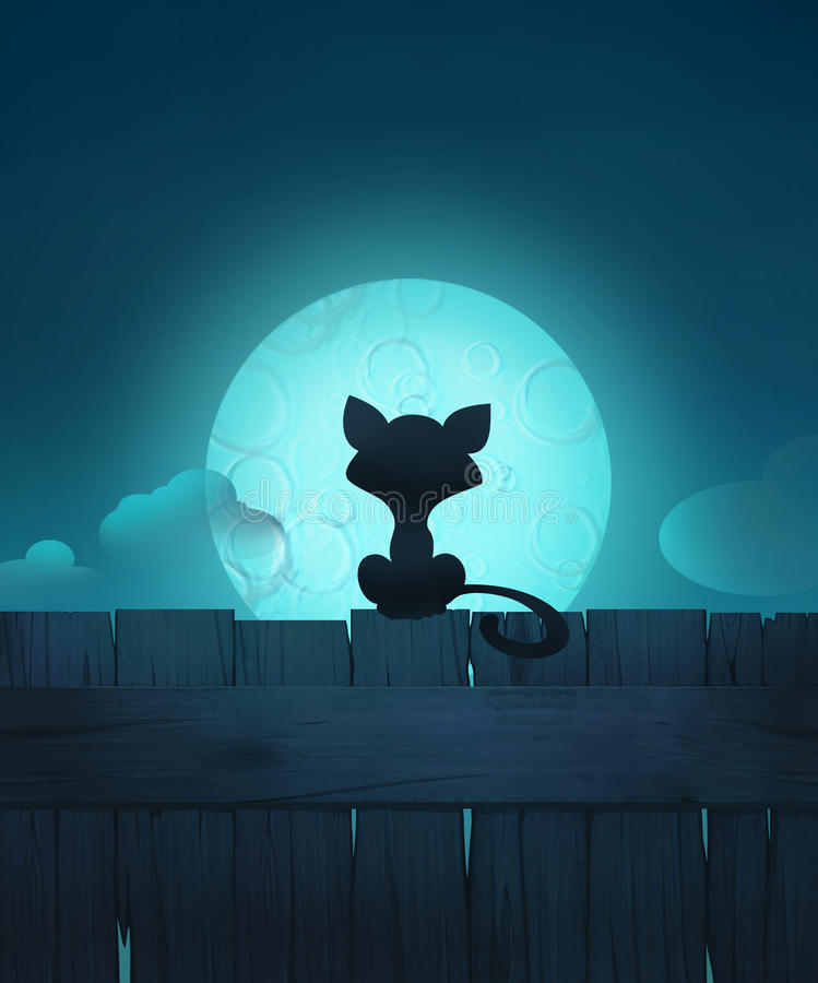 Nachtscène vector illustratie