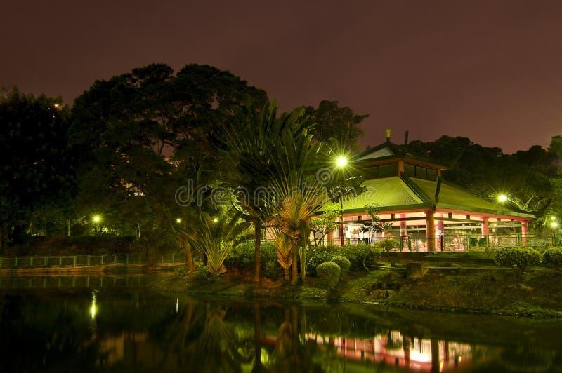 Nachtscène van Tuin royalty-vrije stock foto