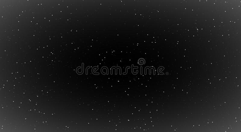 Nachtsc?nes, glanzende sterren in nacht, zwarte achtergrond met heldere sterren ontzagwekkende nacht de melkweg glanst vector illustratie