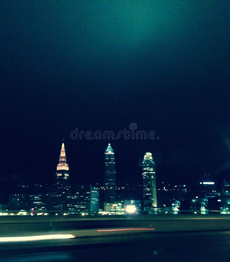 Nachtskyline stockfotografie