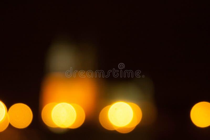 Nachtstad in blurre royalty-vrije stock afbeelding