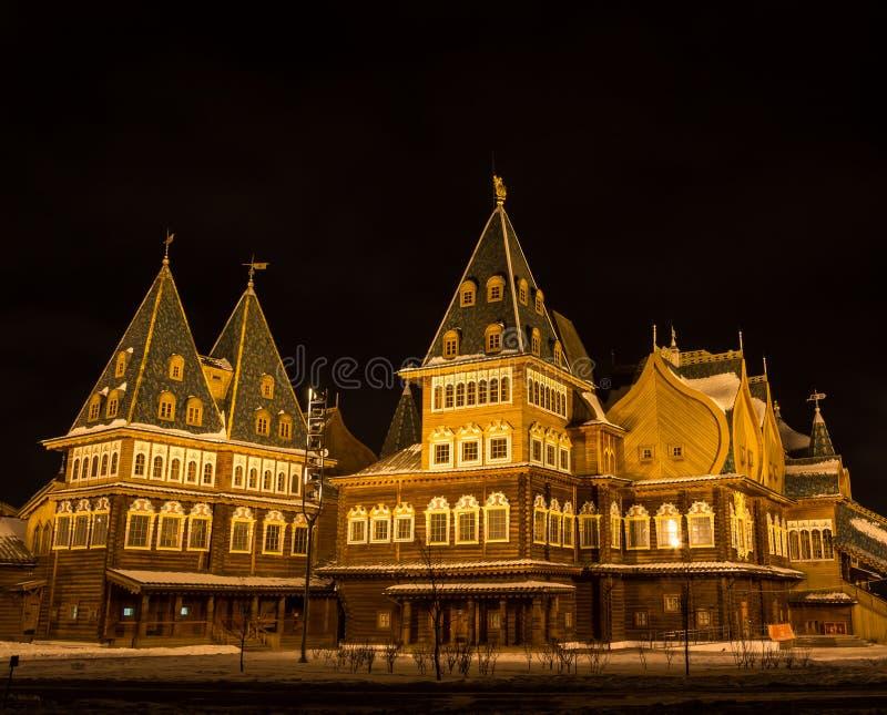 Nachtstad, Moskou bij nacht royalty-vrije stock fotografie