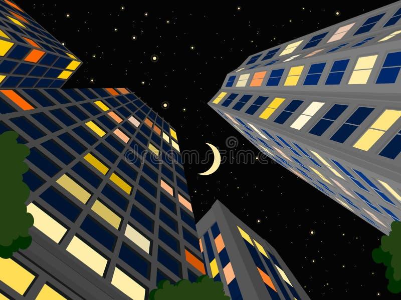 Nachtstadt stock abbildung
