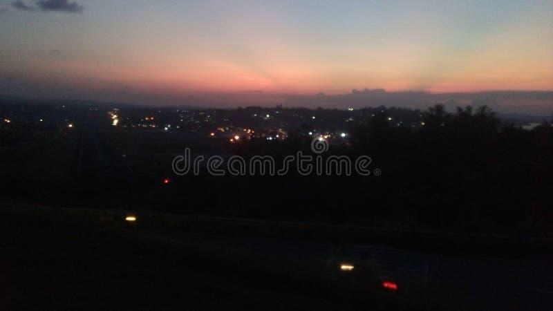Nachtstadt-Hafen Blair In Andaman stockbilder