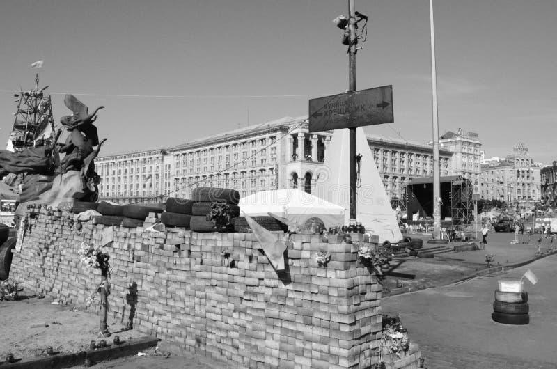NachtStadtbild von Minsk, Weißrussland lizenzfreie stockbilder