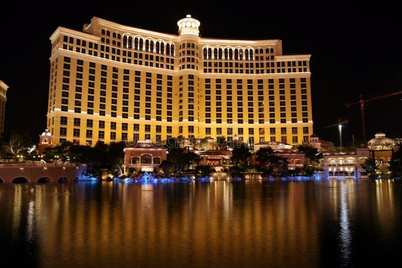 Nachtstraße von Las Vegas lizenzfreies stockfoto