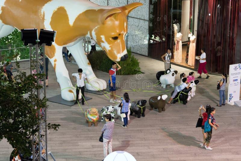 Nachtstraten van Bangkok royalty-vrije stock fotografie