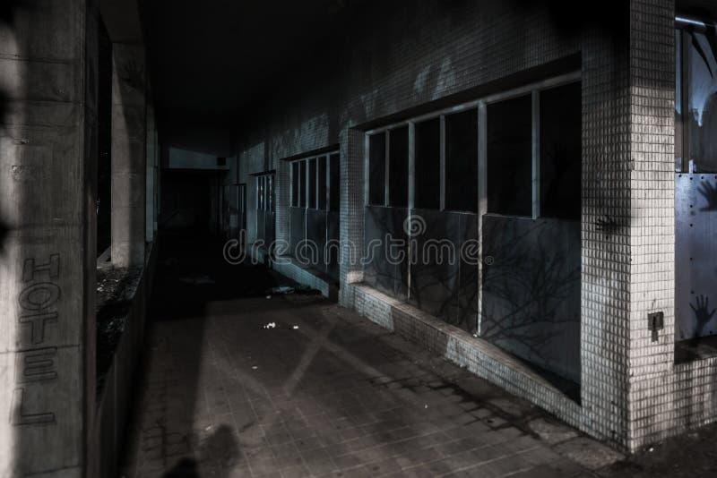 Nachtstraten van de oude stad stock foto