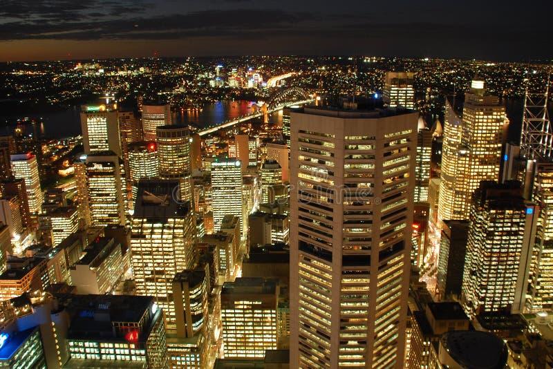 Nachtsydney-Skyline lizenzfreie stockbilder
