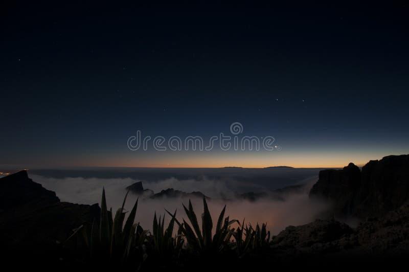 Nachtszene auf Teneriffa lizenzfreies stockbild