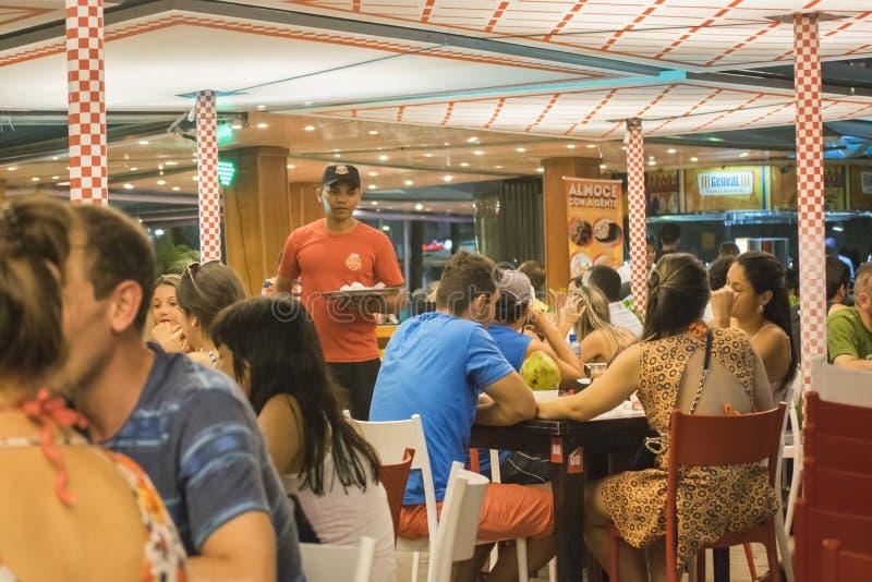 Nachtszene an der Bar Rio de Janeiro Brazil lizenzfreie stockbilder