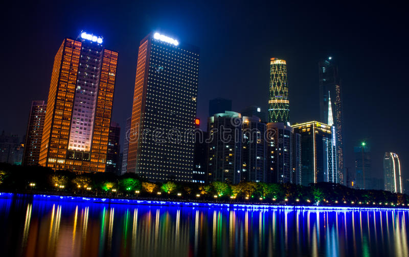 Nachtszene in Guangzhou lizenzfreies stockbild