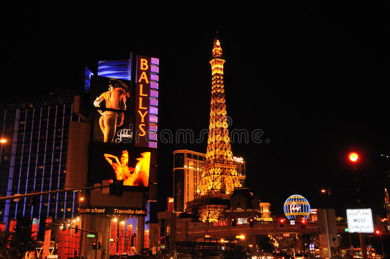 Nachtszene Las Vegas lizenzfreies stockbild