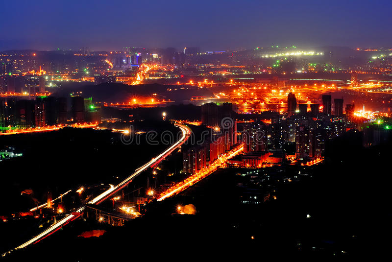 Nachtszene von Chongqing lizenzfreies stockfoto