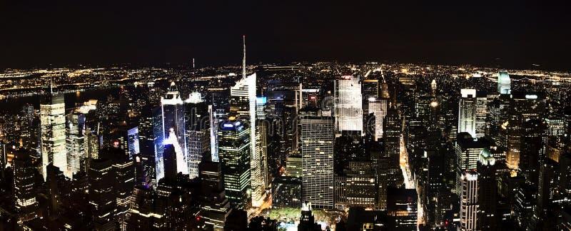 Nachtszenen von New York City stockfoto