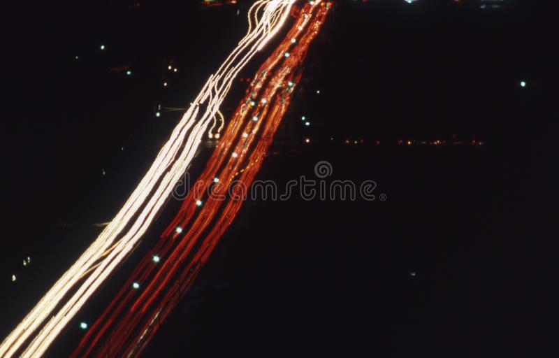 Nachtverkeer in Phoenix Arizona royalty-vrije stock fotografie