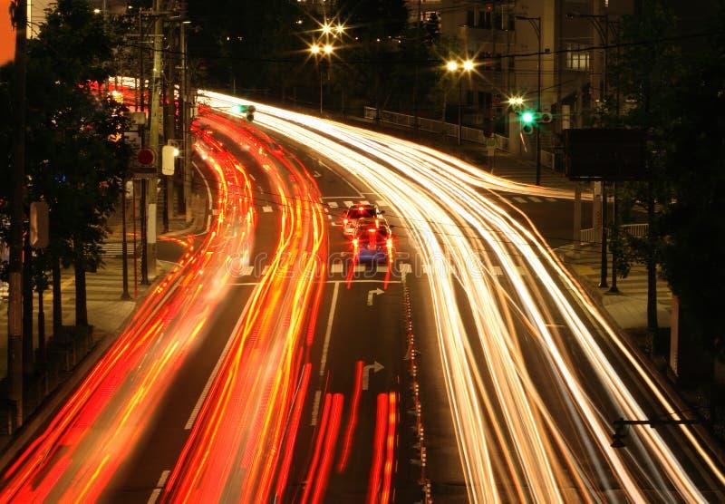 Nachtverkehr lizenzfreie stockfotos