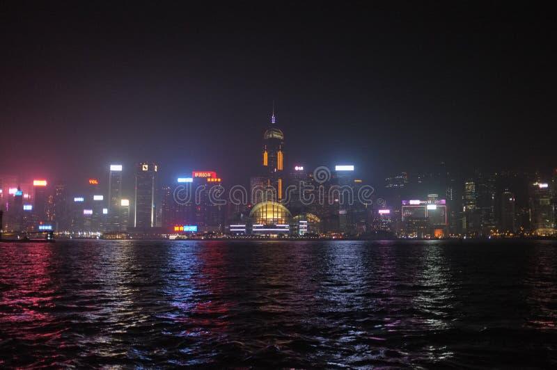 nachtversie van Hong Kong royalty-vrije stock foto's