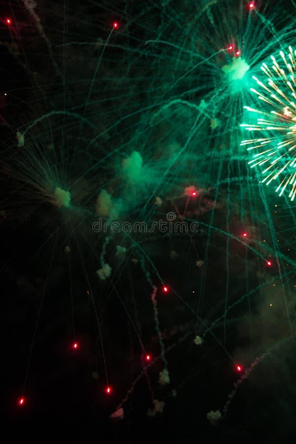 Nachtviering stock foto