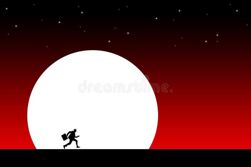 Nachtvlucht stock illustratie