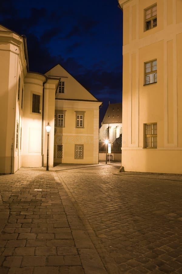 Nachtweg lizenzfreie stockbilder