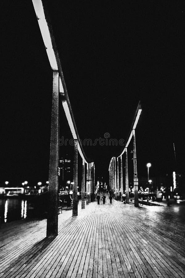 Nachtweg stockfotos